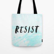 RESIST 5.0 - Black on Teal #resistance Tote Bag