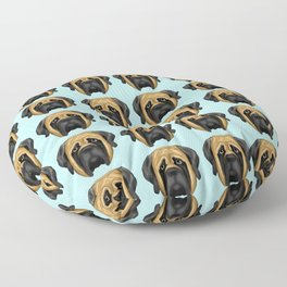Apricot Mastiff Floor Pillow