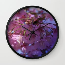 Prunus kursar on texture - the signs of spring Wall Clock