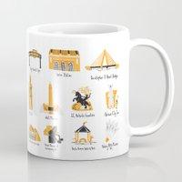 kansas city Mugs featuring I Love Kansas City by HelloKaterTot