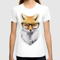 animals T-shirts featuring Mr. Fox by Isaiah K. Stephens