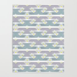 Mix of formal and modern with anemones and stripes 3 Poster
