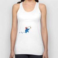 elmo Tank Tops featuring Cookie Monster Donkey by OneWeirdDude