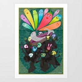 El entierro de la sardina Art Print