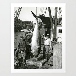 Fishermen, Newport, Rhode Island Art Print
