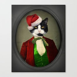 Puccini goes to a Christmas Party Canvas Print