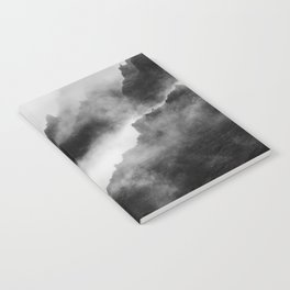 Foggy Mountains Black and White Notebook