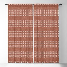farmhouse stitch - rust Blackout Curtain