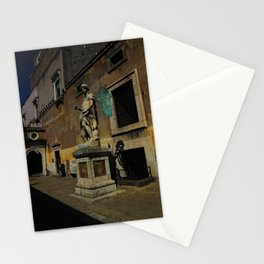 Statue of Archangel Michael, Rome, Italy Stationery Cards