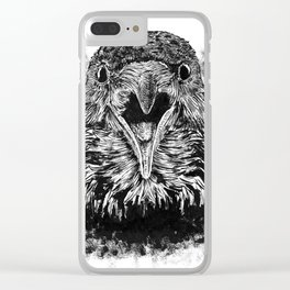Fuming Crow Clear iPhone Case