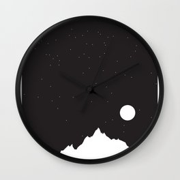 Mountain Sky Night Wall Clock