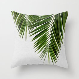 Palm Leaf II Throw Pillow
