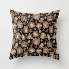 Gingerbread Greenhouses and Terrariums Throw Pillow