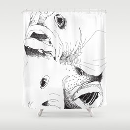 Grouper And Bass - M Shower Curtain