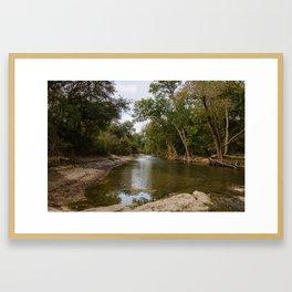Brushy Creek Bed Framed Art Print