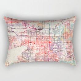 Tempe map Arizona painting Rectangular Pillow