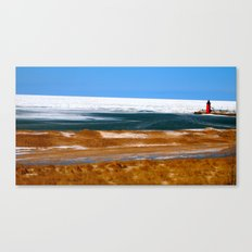 Lighthouse in South Haven, MI Canvas Print