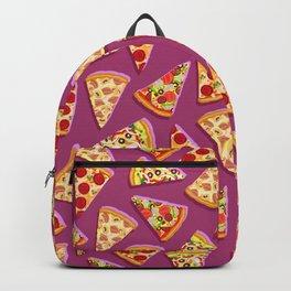 Purple cute pizza slice pattern Backpack