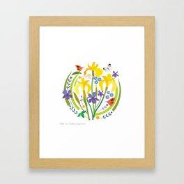 YELLOW IRIS PRINT Framed Art Print