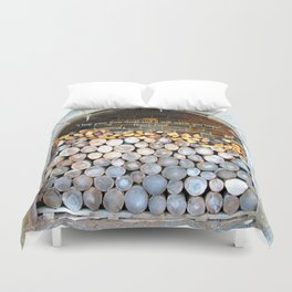 Stack of firewood Duvet Cover