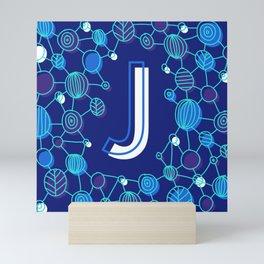 Blue type J Mini Art Print