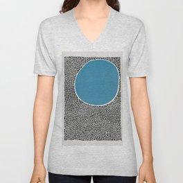 Abstract Blue Lake Unisex V-Neck