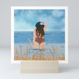 Beach girl Mini Art Print