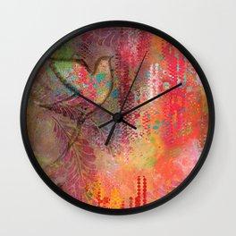 """Soar"" | Original painting by Mimi Bondi Wall Clock"
