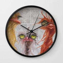 Newsprint Gang Wall Clock