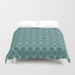 hopscotch-hex navajo Duvet Cover
