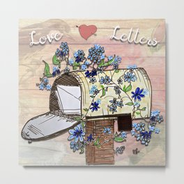 Love Letters Mailbox Metal Print