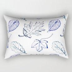Leaves (navy) Rectangular Pillow