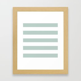 Jet stream - solid color - white stripes pattern Framed Art Print