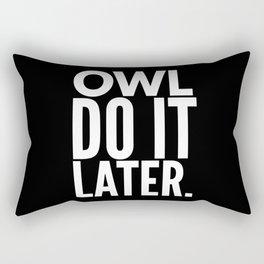 Owl Do It Later Rectangular Pillow