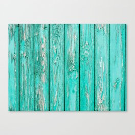 Green Old Wood Canvas Print
