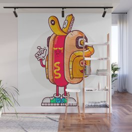 Hot Dog Styler Wall Mural