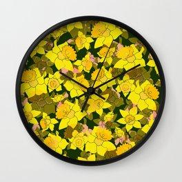 Daffodil Forest Wall Clock