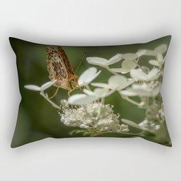 Butterfly on a Hydrangea Rectangular Pillow