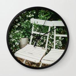 English Garden Chairs Wall Clock