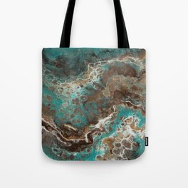 Water Flow, Abstract Acrylic Flow Art Tote Bag