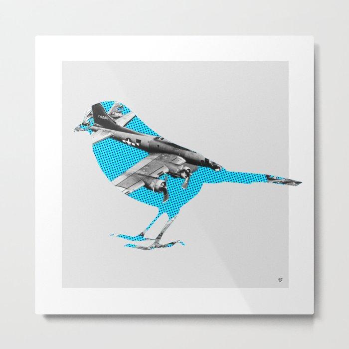 Blue Bomber Bird Metal Print