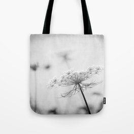 AFE Queen Anne's Lace BW Tote Bag