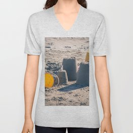 Sand Castle Unisex V-Neck