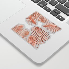 Rose Gold Palm Leaves Sticker