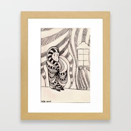 бабушка Framed Art Print