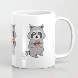 Raccoons with Fruit Coffee Mug