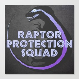 RPS (Raptor Protection Squad) - BLUE Canvas Print
