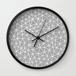 Connectivity - White on Grey Wall Clock