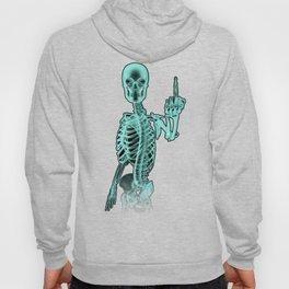 X-ray Bird / X-rayed skeleton demonstrating international hand gesture Hoody