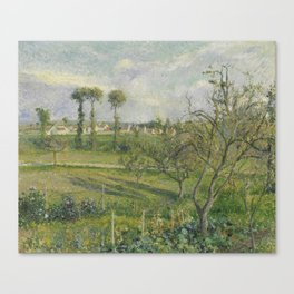 Camille Pissarro 1830 - 1903 THE SETTING SUN Valhermeil, AUVERS-SUR-OISE Canvas Print